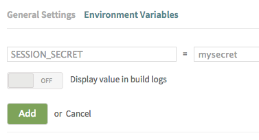 setting environment variables